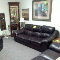 Black Leather Living-Room Set